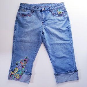 •Boston Proper• Cuffed Cropped Jeans